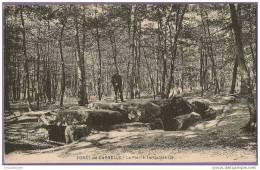 CPA N° 2096 / FORET DE CARNELLE - LA PIERRE TURQUOISE - France