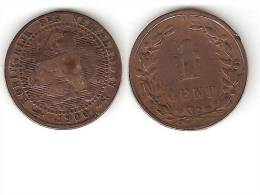 Netherlands  1 Cent 1900 Small Date  Km 107   Fr+ - [ 3] 1815-… : Royaume Des Pays-Bas