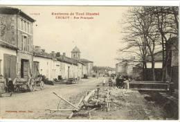 Carte Postale Ancienne Choloy - Rue Principale - France