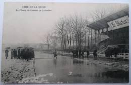 92 : Crue De La Seine - Le Champ De Courses De Colombes - Animée - Traces D´usure Superficielles En Bas à Gauche - Colombes
