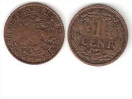 Netherlands  1 Cent 1925 Km 152   Vf+ - [ 3] 1815-…: Königreich Der Niederlande