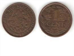 Netherlands  1 Cent 1927 Km 152   Vf+ - [ 3] 1815-… : Royaume Des Pays-Bas