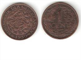 Netherlands  1 Cent 1930 Km 152   Xf+   !!! - [ 3] 1815-…: Königreich Der Niederlande