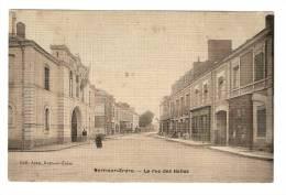 CPA - 44 - Loire Atlantique : Nort Sur Erdre : La Rue Des Halles : Colorisée - Effet Toilé - Nort Sur Erdre