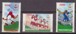 Indonesia, 2002, Worldcup Football, Set Of 3, MNH, *** - 2002 – Corea Del Sud / Giappone