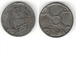 Netherlands  1 Cent 1941 Km 170   Xf  !!! - [ 3] 1815-… : Royaume Des Pays-Bas