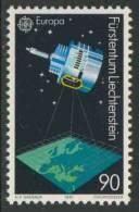 """Liechtenstein 1991 Mi 1012 Sc 956 ** """"Meteosat"""" Satellite – Europa In Space / Wettersatellit – Europa Cept - Space"""