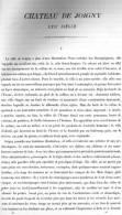 CHATEAU DE JOIGNY 1867 YONNE PAR CLAUDE SAUVAGEOT TEXTE ET 3 PLANCHES ARCHITECTURE - Architectuur