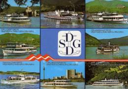 01595 Motorschiff  Der Ersten Donau-Dampfschiffahrts - Gesellschaft - Paquebots