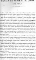 PALAIS DE JUSTICE DE DIJON 1867 COTE D OR PAR CLAUDE SAUVAGEOT TEXTE ET 14 PLANCHES ARCHITECTURE - Architectuur