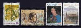 Australia - 1990 - 4 Single Stamp Issues - Used - Oblitérés