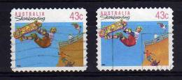 Australia - 1990/91 - 43 Cents Skateboarding (Perf 11½, Typo & Litho Printings) - Used - Used Stamps