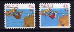Australia - 1990/91 - 43 Cents Skateboarding (Perf 11½, Typo & Litho Printings) - Used - Oblitérés