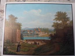 CH SUISSE Bale/Basel Harzgrabenschanze, Blick ûber Den Rhein JJ SCHNEIDER Vor 1854 N°6 - BS Bâle-Ville