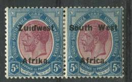 Südwestafrika 75-76 * Waagrechtes Paar (b04dx) - South West Africa (1923-1990)