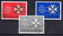 New Zealand 1985 St John Ambulance Centenary Set Of 3 Used - Used Stamps
