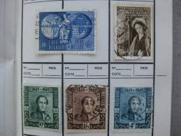 Timbre Belgique : Union Postal Universelle Et Roi 1949 - Belgique