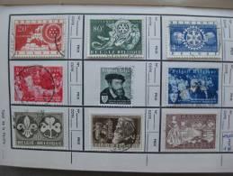 Timbre Belgique : OOSTENDE, Expo Charles Quint, Solvay 1954/56 - Belgique