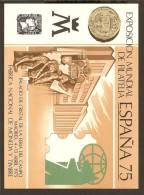 ESPAÑA 1975 - EXPOSICIÓN MUNDIAL DE FILATELIA - MNH ** (Hoja Recuerdo) - Hojas Conmemorativas
