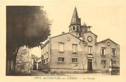 DEPTS DIV- Tarn - Ref -F900-monesties Sur Cerou - La Mairie   - Carte Bon Etat - - Monesties