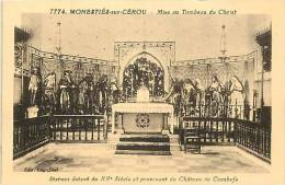 DEPTS DIV- Tarn - Ref -F899 -monesties Sur Cerou - Mise Au Tombeau Du Christ -statues  - Carte Bon Etat - - Monesties