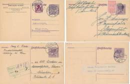ÖSTERREICH -  9 Postkarten - Ganzsachen