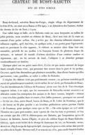 CHATEAU DE BUSSY RABUTIN 1867 COTE D OR PAR CLAUDE SAUVAGEOT TEXTE ET 12 PLANCHES ARCHITECTURE - Architectuur