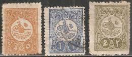 Turchia 1901 Nuovo/Usato - Mi. 159 I *; 162 II Us; 180 C SG  Vedere SCAN - 1837-1914 Smyrna