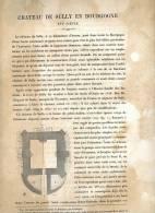CHATEAU DE SULLY 1867 SAONE ET LOIRE PAR CLAUDE SAUVAGEOT TEXTE ET 8 PLANCHES ARCHITECTURE - Architectuur