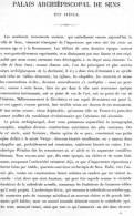 PALAIS ARCHIEPISCOPAL DE SENS 1867 YONNE PAR CLAUDE SAUVAGEOT TEXTE ET 14 PLANCHES ARCHITECTURE - Architectuur