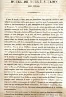 HOTEL DE VOGUE A DIJON 1867 COTE D OR PAR CLAUDE SAUVAGEOT TEXTE ET 25 PLANCHES ARCHITECTURE - Architectuur
