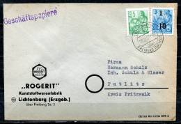 "DDR,GDR 1954 Firmenbrief /Postal Cover ""ROGERIT-Kunststoffwarenfabrik "" Mit Mi.Nr. 437 MiF "" 1 Beleg - [6] República Democrática"