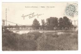 CPA : 03 - Allier - Montluçon : Environs - Vallon : Pont Suspendu -  Vue Peu Commune - Montlucon