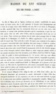 MAISON RUE DES FORGES A DIJON 1867 COTE D OR PAR CLAUDE SAUVAGEOT TEXTE ET 7 PLANCHES ARCHITECTURE - Architectuur