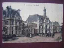 VALENCIENNES -La Gare En 1908 Et En Couleur - Cartoline