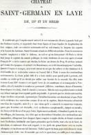 CHATEAU DE SAINT GERMAIN EN LAYE 1867 YVELINES PAR CLAUDE SAUVAGEOT TEXTE ET 17 PLANCHES ARCHITECTURE FRANCOIS Ier - Architectuur