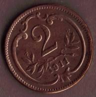AUTRICHE AUSTRIA 2 HELLER 1911