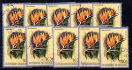 Burundi 1986,  Fleurs D'Afrique,  UN Ex Du Yv PA 500 Ø,  Cote 10 E ? - 1980-89: Oblitérés