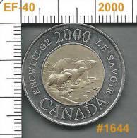 2000 CANADA TWOONIE (KNOWLEDGE) EF-40  #1644 - Canada