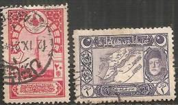 Turchia 1918 Usato - Mi. 632/33  Vedere SCAN - 1858-1921 Impero Ottomano