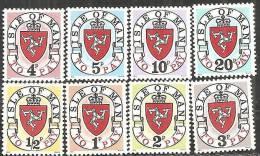 Man 1973 Tasse Nuovo** - Mi. 1I/8I (€ 45,00) - Isola Di Man