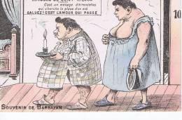 Souvenir De Barbazan , Cpa Illustrée : Amours De Cent Kilogs - Barbazan