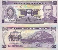 Honduras P72a, 2 Lempira, Harbor Town W/mountain $3CV! - Honduras