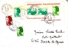 PNU 2177+2179x3+2474 A Roulette+ 2474 Geffosse(petit Bureau) Donville Poste Restante - 1961-....