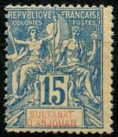 Anjouan (1892) N 6 * (charniere)