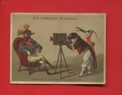 PARIS SAINT EUSTACHE CHROMO ROMANET ANTHROPOMORPHISME PHOTOGRAPHE PHOTO SINGE HERON  HUPPE - Non Classés