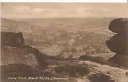 Derbyshire Postcard - View From Black Rocks, Cromford, Derby  Q894 - Derbyshire