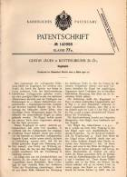 Original Patentschrift - G. Jäger In Kottingbrunn , N.-Ö., 1902 , Kugelspiel , Flipper !!! - Antikspielzeug