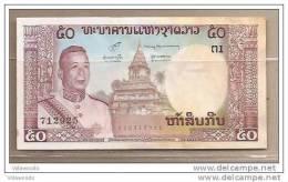Laos - Banconota Circolata Da 50 Kip - Laos