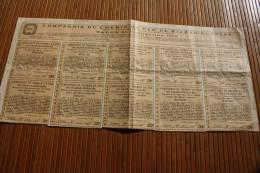 Compagnie Du Chemin De Fer De Riazan-Ouralsk.talon  De L'obligation Emprunt 4 % 1903 Titre Action - Chemin De Fer & Tramway